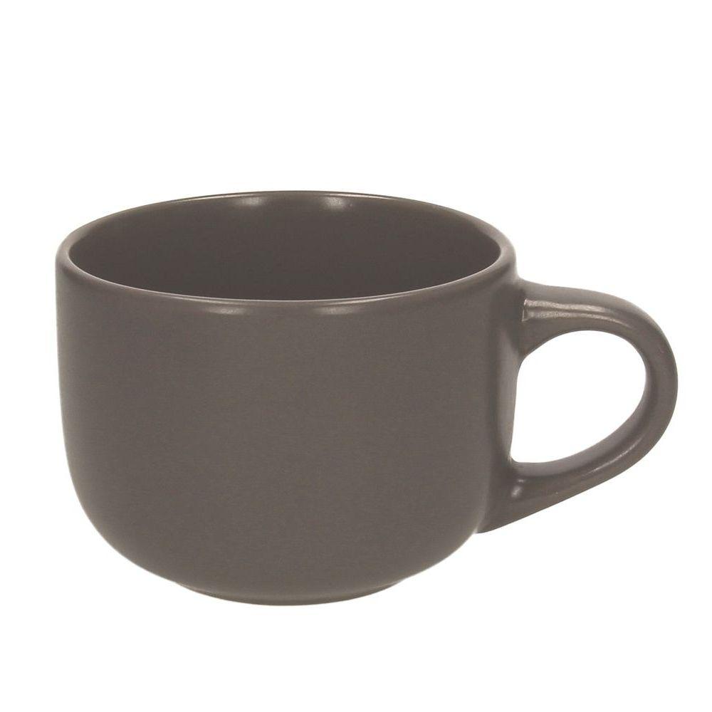 Чашка для завтрака 580 мл. RUSTICAL ANTRACITE MATT