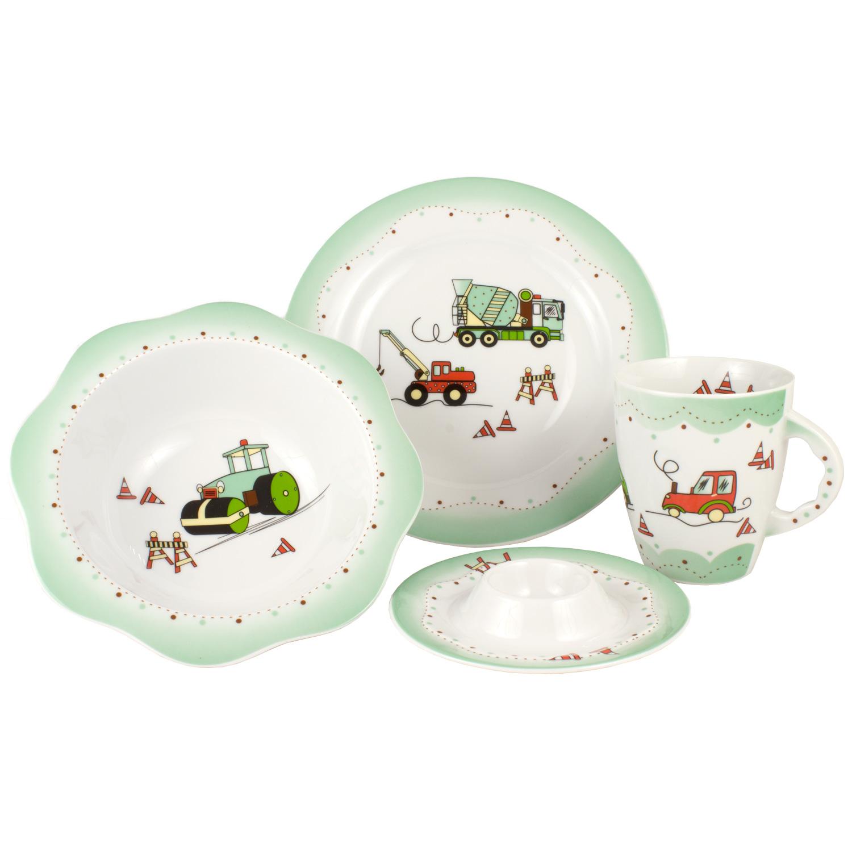 """Набор детской посуды """"Зеленая машинка"""" Cmielow"""