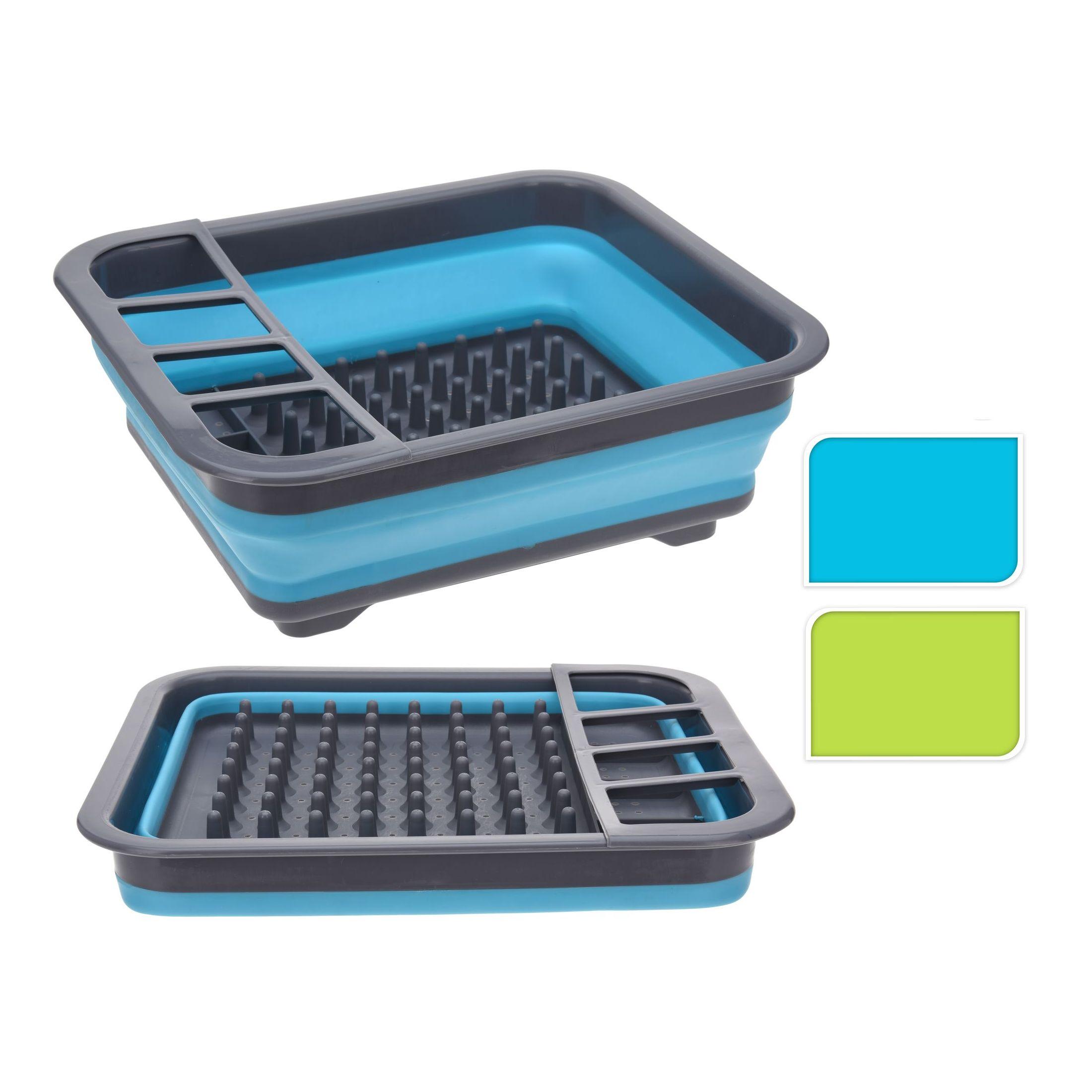 Сушилка для посудыЭта сушилка для посуды станет надежным помощником на кухне. Модель поделена на секторы для тарелок, чашек, ложек, вилок. Изделие легко моется и чистится, изготавливается из крепкого пластика, безопасного для человека и окружающей среды. Сушилка легкая, что позволяет брать ее с собой на дачу. Производитель предлагает два цветовых решения: синее и зеленое, поэтому каждая хозяйка сможет выбрать цвет, который гармонично впишется в интерьер кухни. Сушилка для посуды Excellent Houseware заслужила доверие среди российских потребителей и получила немало положительных отзывов.<br>