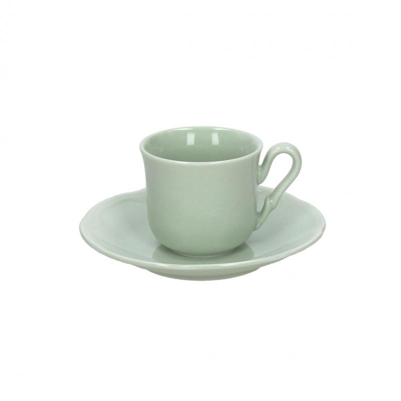 Чашка с блюдцем чайная 200 мл FAVOLA VERDE SAЧашка с блюдцем сделана из высококачественного фарфора. Благодаря ее оригинальному дизайну, она станет отличным подарком на любой праздник вашим друзья или близким. Коллекционеры посуды и настоящие ценители по достоинству оценят этот набор.<br>