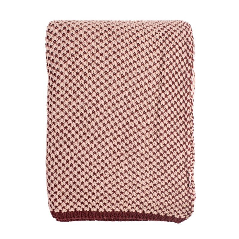 Плед двухцветный из хлопка Tkano Essential 180х130 см