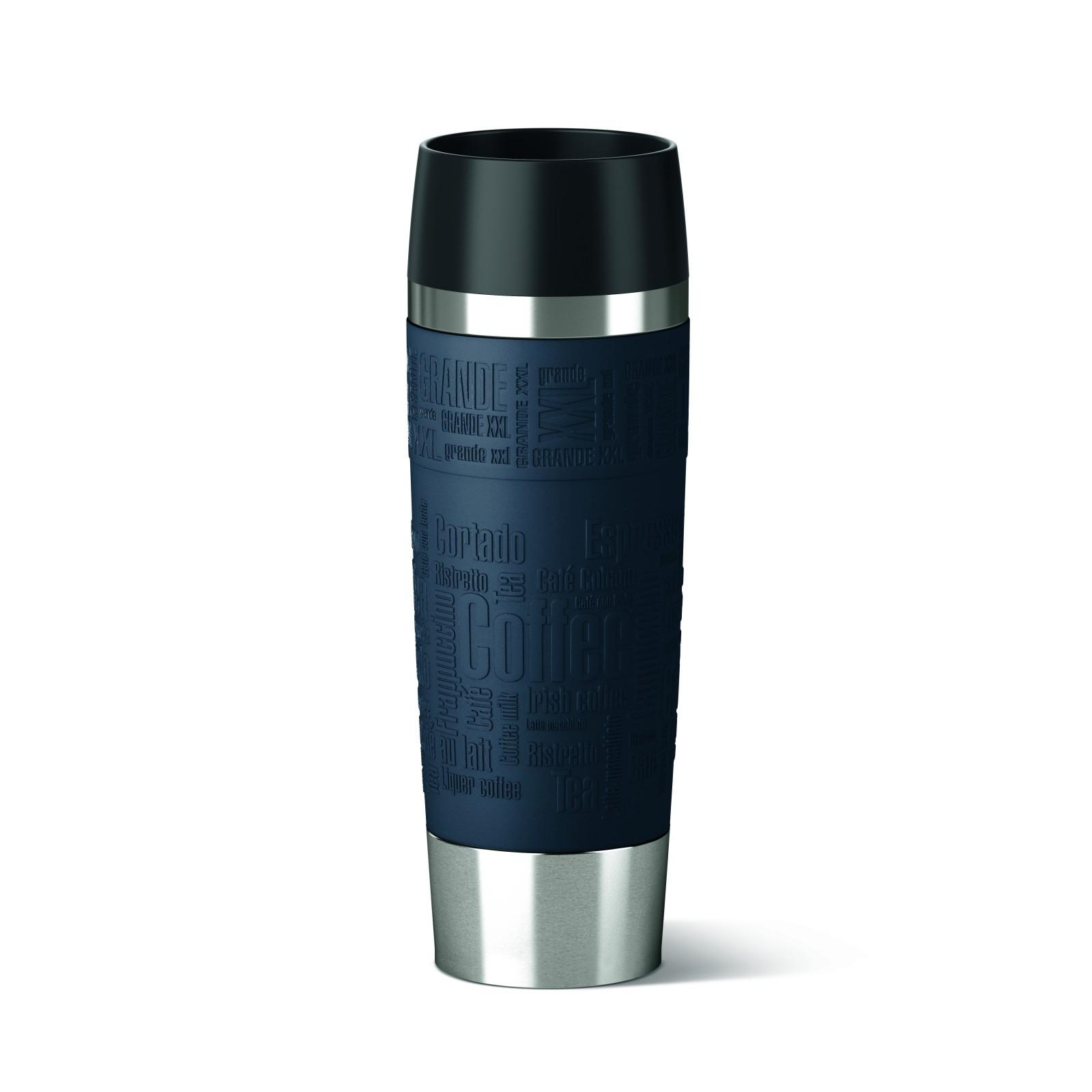 Термокружка TRAVEL MUG GRANDE 0,5л синяяТермокружка изготовлена из высококачественной стали. Она отлично держит температуру вашего напитка в течение длительного времени. Вы сможете взять свой напиток с собой в дорогу и пить его где бы вы не находились.<br>