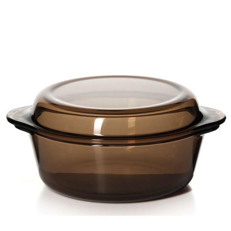 Форма для запекания с крышкой 2 л.Посуда для СВЧ кастрюля с крышкой 2 л коричн.<br>