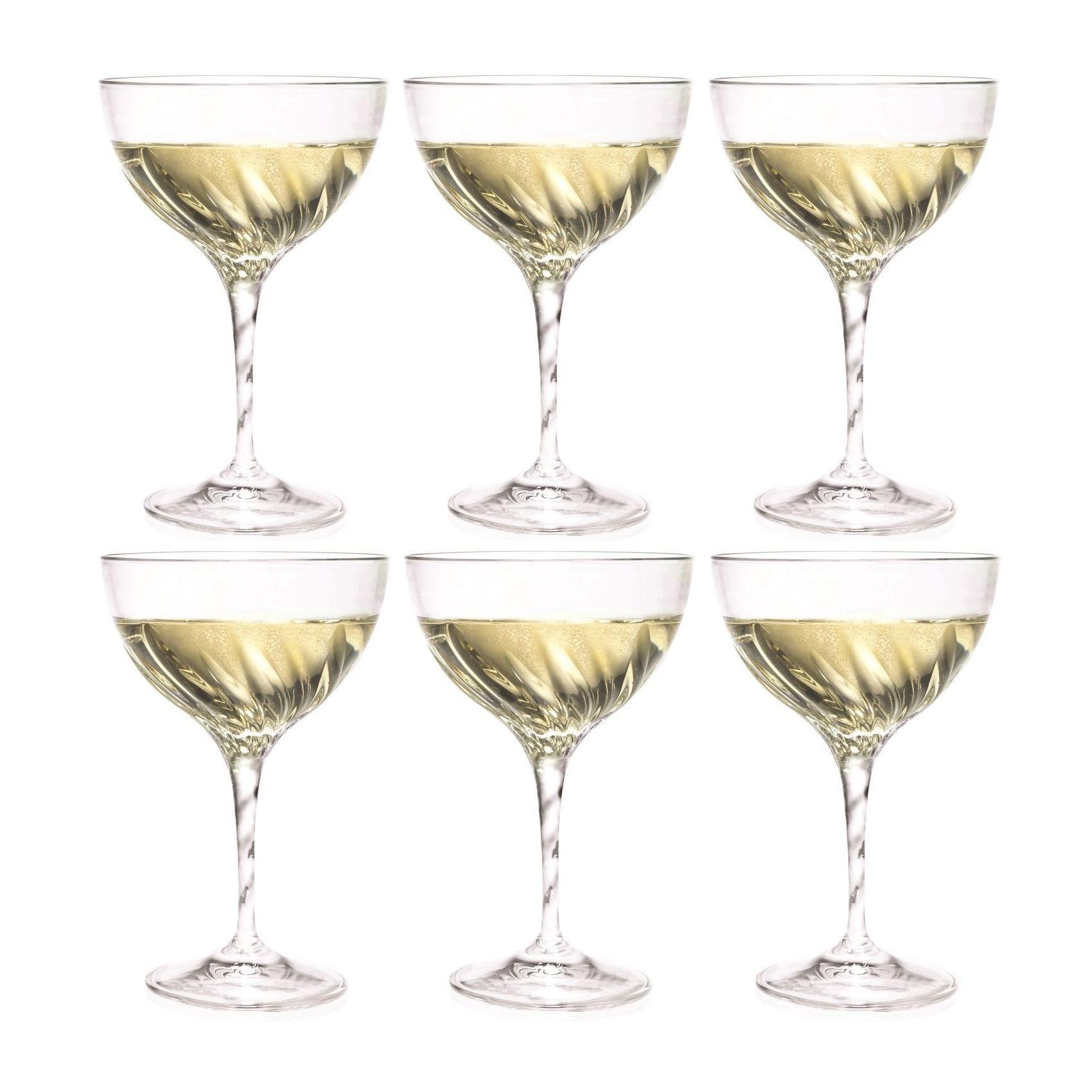 Набор бокалов д/шампанского 380 мл 6 шт FLUENTEНабор бокалов для шампанскогоФлюент отличается изысканностью и элегантностью дизайна. Высокие стенки узкого бокала обеспечивают длительное сохранение вкуса и аромата игристого напитка, а преломление света в гранях стекла привнесет в ваш праздник настроение торжественности и роскоши. Бокалы изготавливаются из прочного стекла, для создания которого не применяются токсичные вещества. Набор станет универсальным выбором для дома, а также подойдет для применения в барах и ресторанах благодаря универсальному исполнению. Набор бокалов для шампанскогоФлюент – выбор для самых ярких праздников.<br>