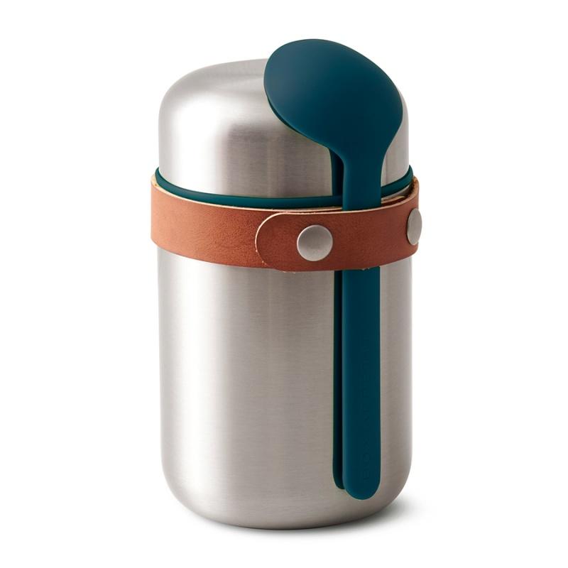 Термос для горячего 400 мл Food Flask бирюзовый.