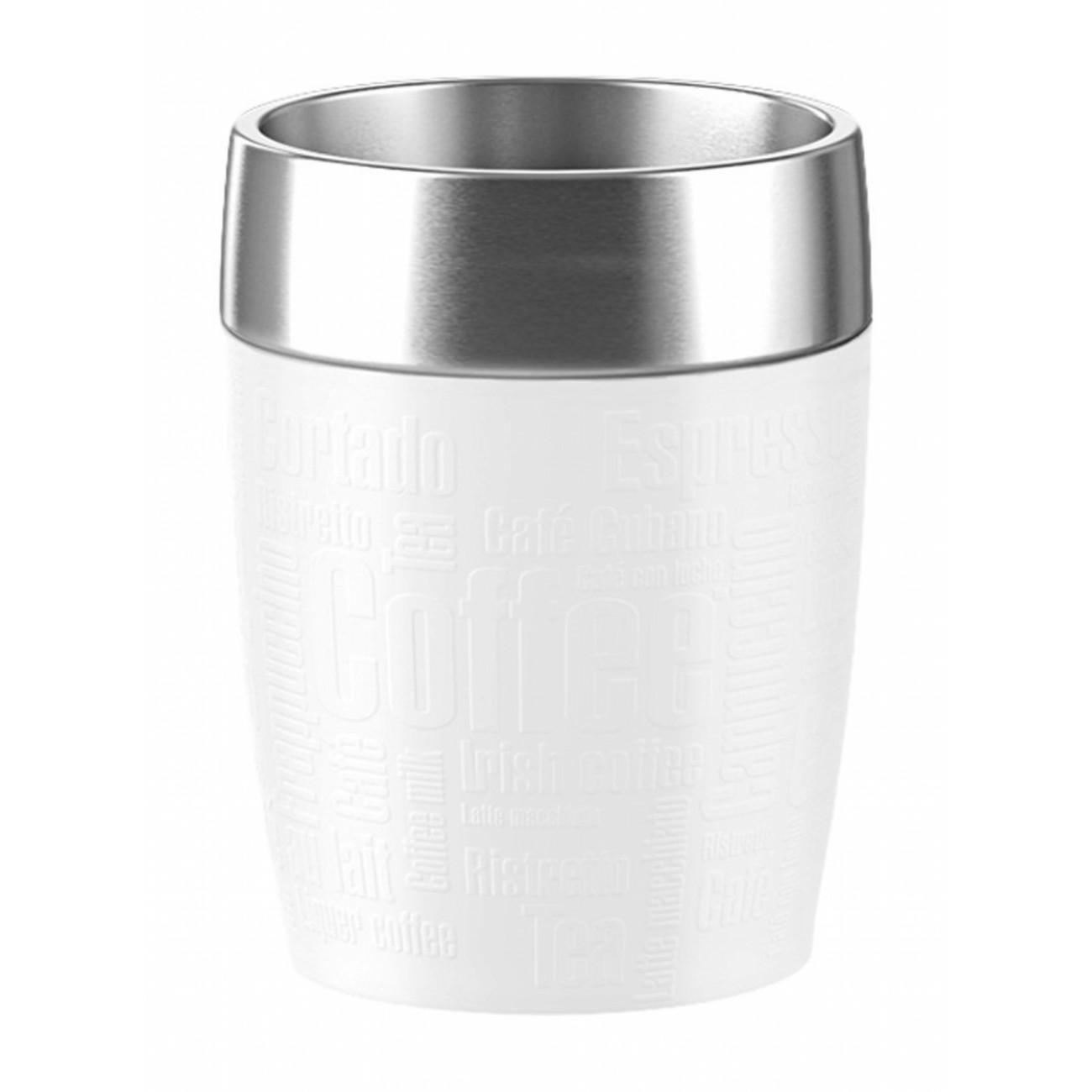 Термостакан TRAVEL CUPEmsa производит красивую и качественную посуду и аксессуары для дома и дачи, создает каждый предмет продуманно и с особой любовью. Данный термостакан стильный, эргономичный, прекрасно выполняет свою функцию и защищает руки от высоких температур благодаря силиконовой вставке.<br>