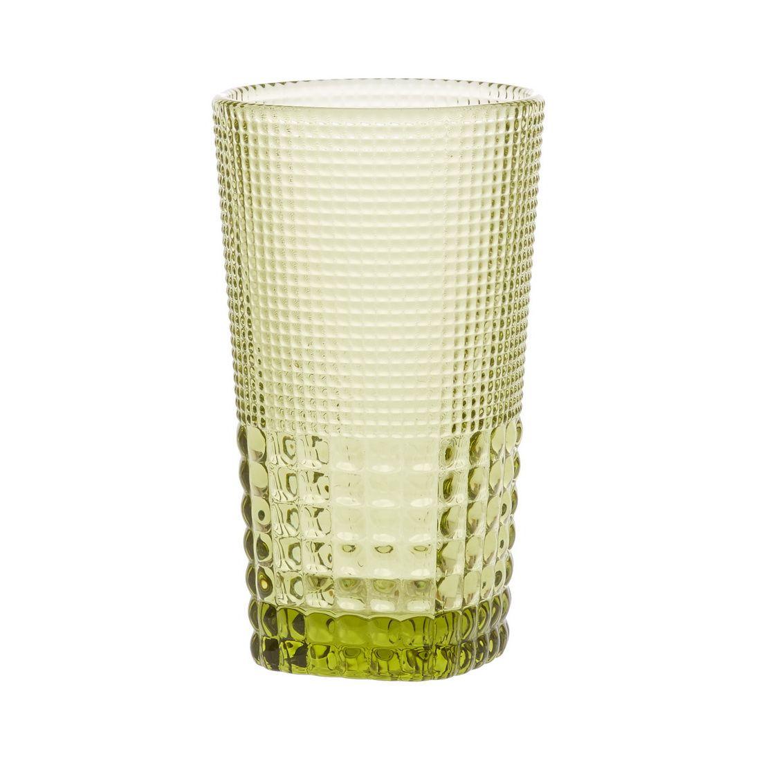 Стакан для напитков Royal drops, оливковыйОцените удобство и универсальность стакана для напитков Ройял дропс. Он станет полезным и эстетичным дополнением любого стола – свадебного, новогоднего или юбилейного. Модель изготовлена из прозрачного стекла приятного оливкового цвета. Форма стакана близка к цилиндрической, немного расширяющаяся к верхнему краю. Наружная поверхность стекла покрыта рельефными насечками, которые обеспечивают удобство обращения с изделием и красиво выглядят. Стакан Ройял Дропс подходит для любых напитков – вина, минеральной и чистой питьевой воды, чая, сока.<br>