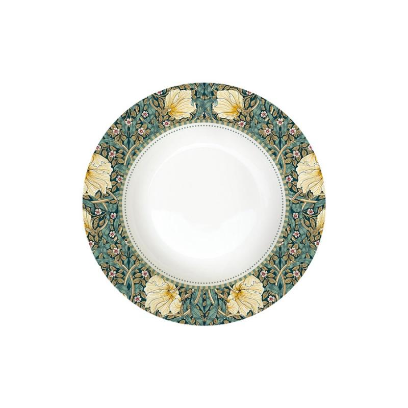 Тарелка суповая 21,5 см Easy Life William Morris тёмно-зелёный