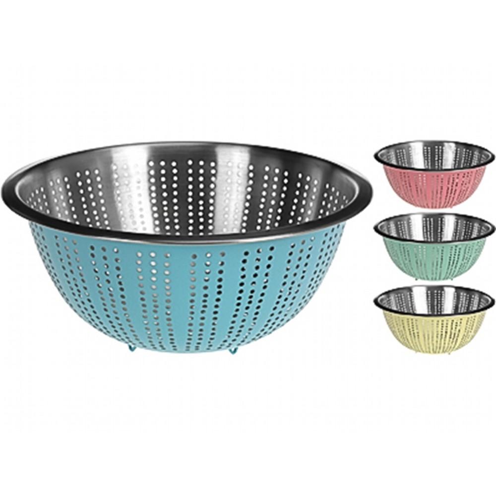 ДуршлагExcellent Houseware производит посуду и различные предметы для дома. Дуршлаг - неотъемлемый атрибут на каждой кухне. С его помощью вы с легкостью сольете лишнюю жидкость из кастрюли. Внимание! Выбрать цвет заранее не представляется возможным.<br>