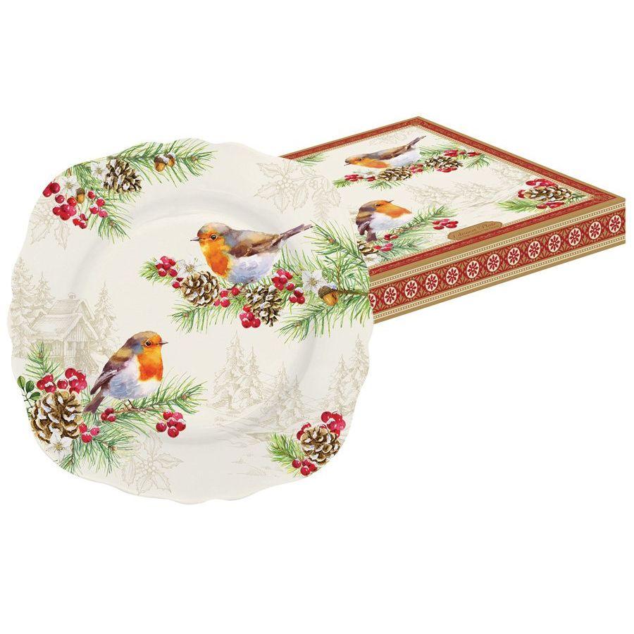 Тарелка десертная Снегирь<br>