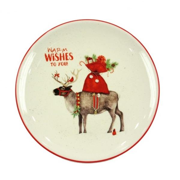 Тарелка с рождественским дизайном 20 см