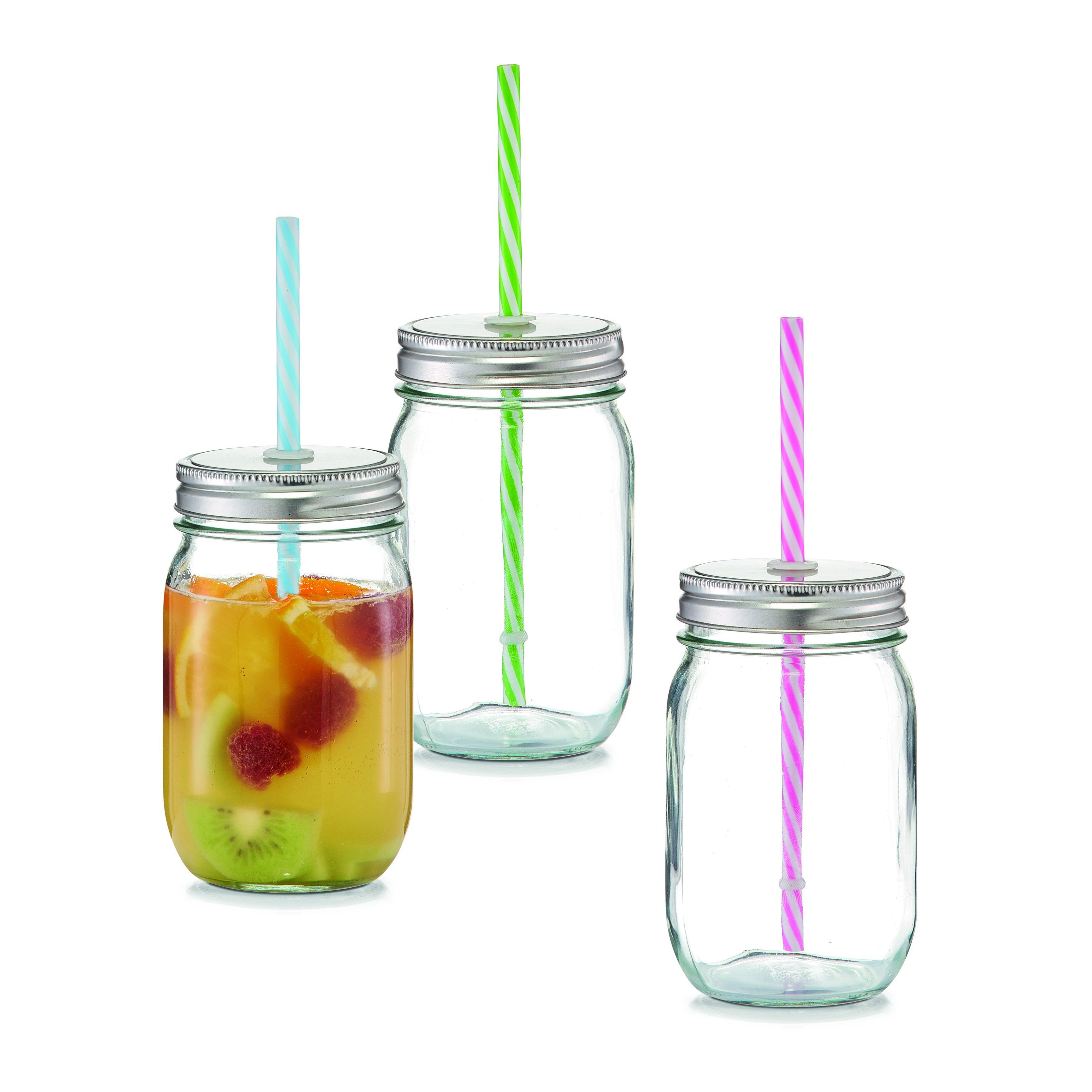 Емкость для напитков с трубочкой 470 мл., d-8х13Емкость Zeller, выполненная из высококачественного стекла в виде бутылки, снабжена трубочкой и пластиковой крышкой с отверстием для трубочки. Изделие предназначено для сока, воды и других напитков. Емкость очень удобна в использовании. Она пригодится как дома, так и на даче.<br>