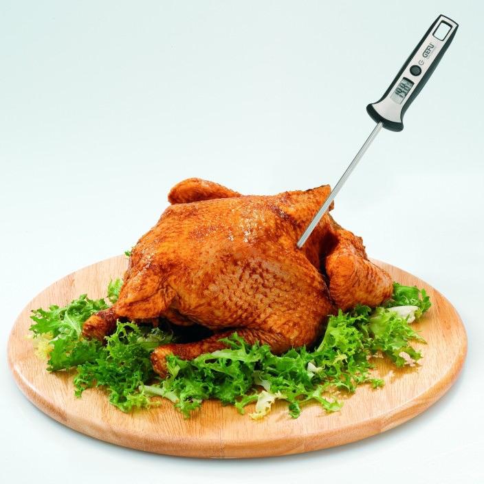 Термометр электронный Скала  металлическийТермометр Скала - электронный прибор для измерения температуры продуктов и жидкостей. Для того чтобы узнать температуру блюда, нужно опустить конец, через несколько секунд на ЖК-экране отобразится температура.<br>