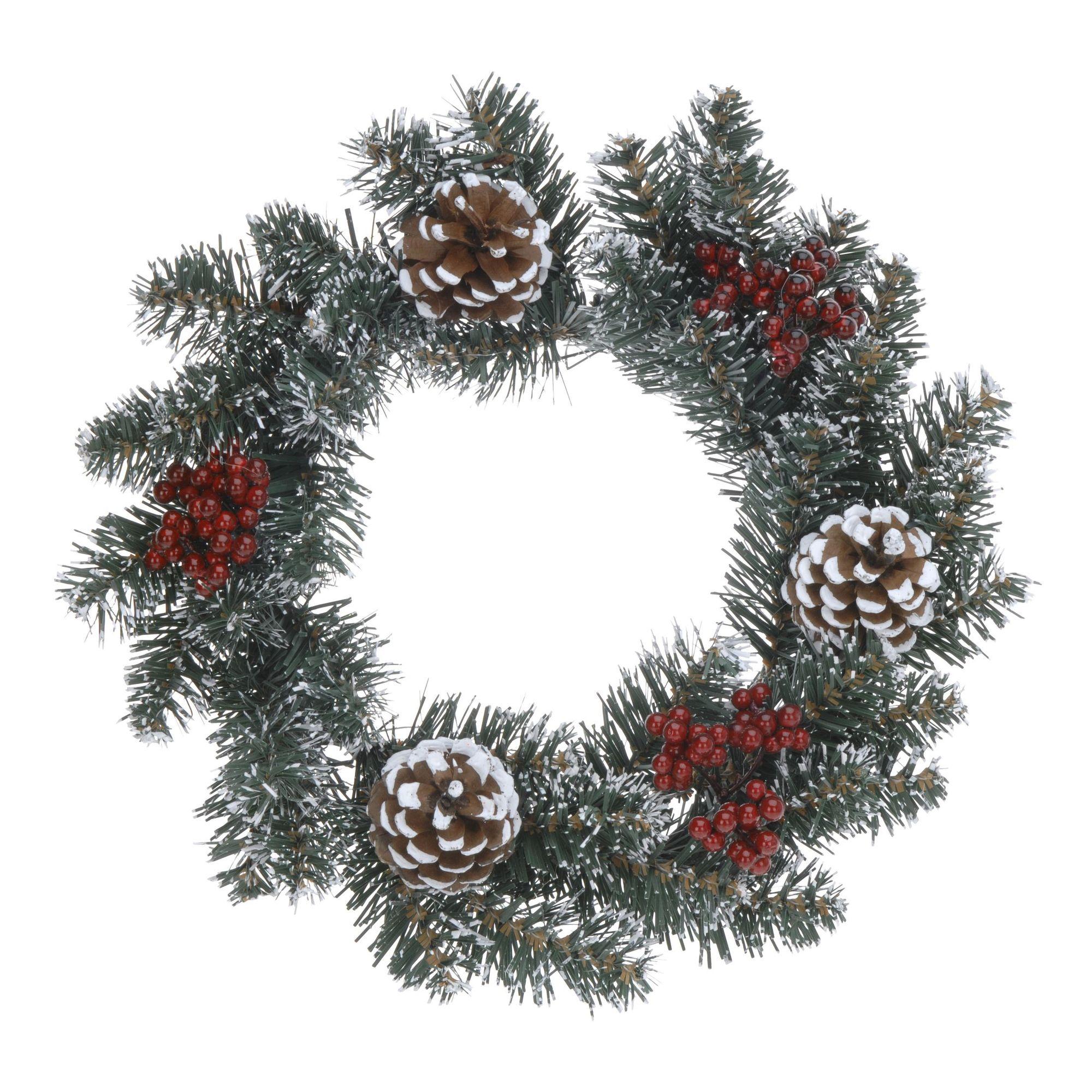 Венок декоративный рождественский