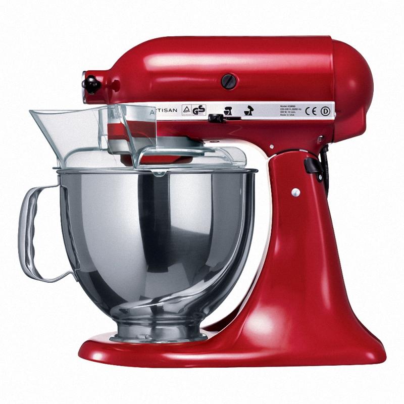 Миксер планетарный с чашей полупроф. Kitchen Aid 4,83 л красныйМногофункциональный миксер 5KSM150PSEER красного цвета, лучший помощник на кухне. Стильный, яркий дизайн и высокое качество этого миксера было оценено многими поварами на профессиональном уровне. Помимо выполнения основных функций - взбивания, замешивания, перемешивания, он может использоваться как мясорубка, соковыжималка, мельница, овощерезка и т.д. Удобен и прост в обслуживании. Это высококачественная техника будет незаменимым помощником на кухне в приготовлении различных блюд,  превращая трудоемкие кухонные операции в быструю работу.<br>