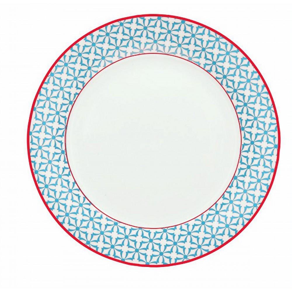 Тарелка обеденная OLIMPIA  KUBIK  AZТарелка обеденная фирмы Tognana сделана из высококачественного фарфора. Имея оригинальный дизайн, тарелка отлично подойдет для украшения и сервировки ваших блюд. Этот элемент посуды является неотъемлемым на любой кухне.<br>