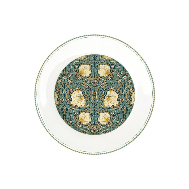 Тарелка обеденная 26,5 см Easy Life William Morris тёмно-зелёный