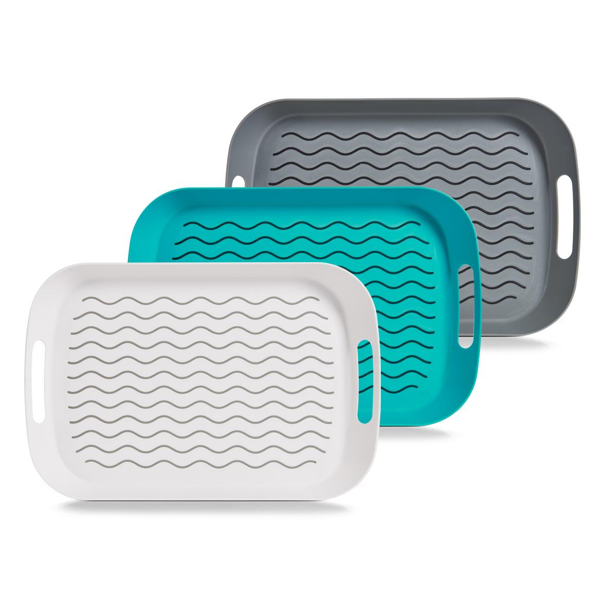 Поднос 44,25х29,5х5 смПоднос изготовлен из высококачественного полипропилена. Он станет незаменимым предметом для сервировки стола. Поднос не только дополнит интерьер вашей кухни, но и защитит поверхность стола от грязи и перегрева.Классический поднос Idea придется по вкусу и ценителям классики, и тем, кто предпочитает современный стиль.<br>