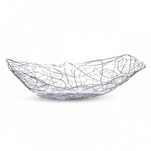 Ваза ZellerКорзина изготовлена из металла с хромированной поверхностью. Она отлично подойдет для хранения в ней фруктов и отлично будет смотреться на праздничном столе. Ее оригинальный и стильный дизайн подойдет под интерьер любой кухни.<br>