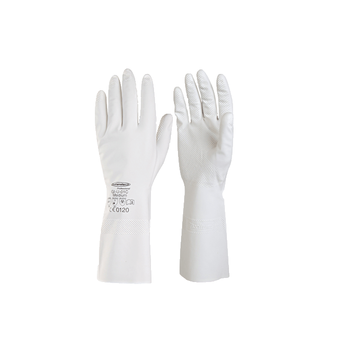 Перчатки хозяйственные белые улучшенные тонкий нитрилПредставленные перчатки будут незаменимы в любом хозяйстве. Представленная модель изготавливается из прочного нитрил-латекса. Этот материал отличается высокой прочностью, которая сочетается с гибкостью, необходимой для удобной работы. Специальное покрытие обеспечивает безопасное использование, полностью исключая вероятность проскальзывания. Благодаря прочной структуре материала вы можете быть уверены в том, что каждая пара перчаток прослужит вам очень долгое время.<br>