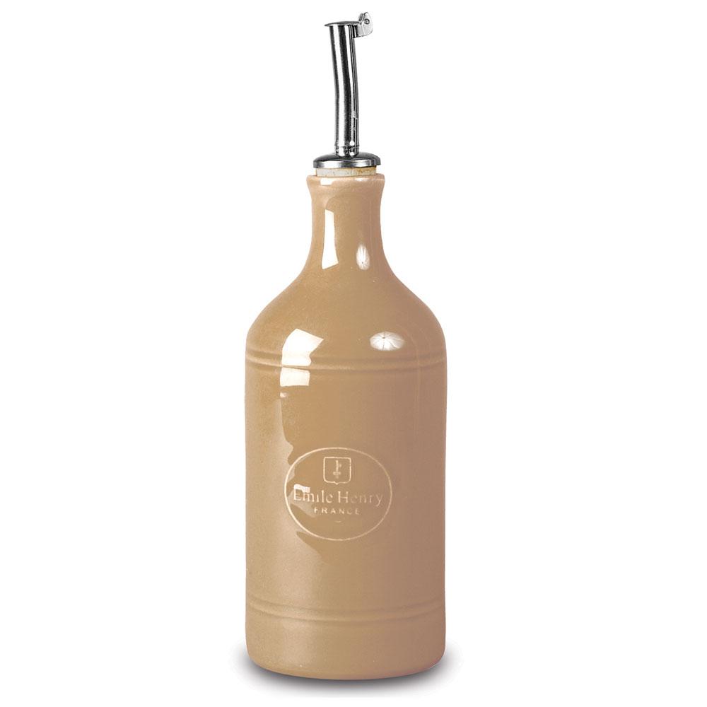 Бутылка для масла и уксуса, 7,5 см, 0,45л (цвет: мускат) мускатКерамическая посуда от бренда Emile Hanry дарит прекрасное настроение всем хозяйкам. Высококачественная керамика делает использование предметов максимально комфортными и долговечными, а яркие краски станут украшением для Вашей кухни.<br>