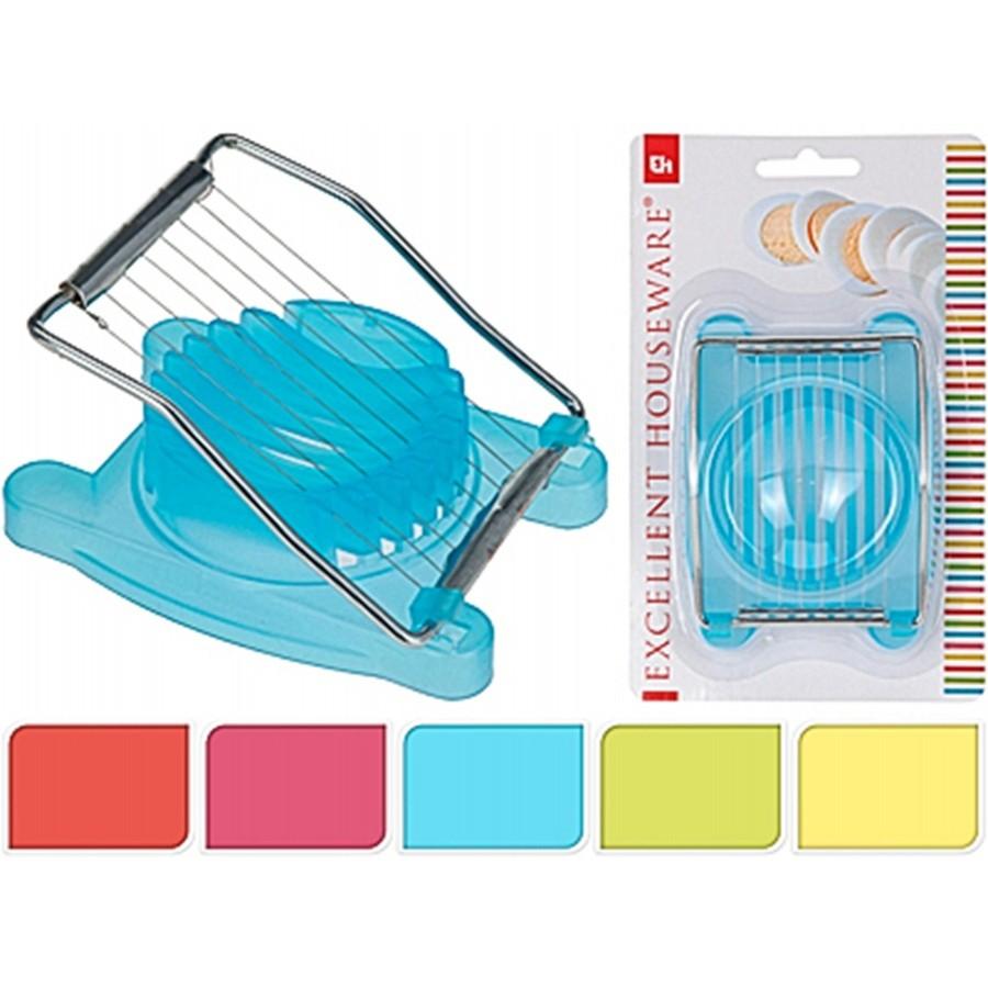ЯйцерезкаExcellent Houseware производит посуду и предметы для дома. Яйцерезка - это замечательный помощник в быту, так как позволяет измельчить яйцо всего за два движения. Вам больше не придется крошить его ножом. Внимание! Выбрать расцветку заранее не представляется возможным.<br>