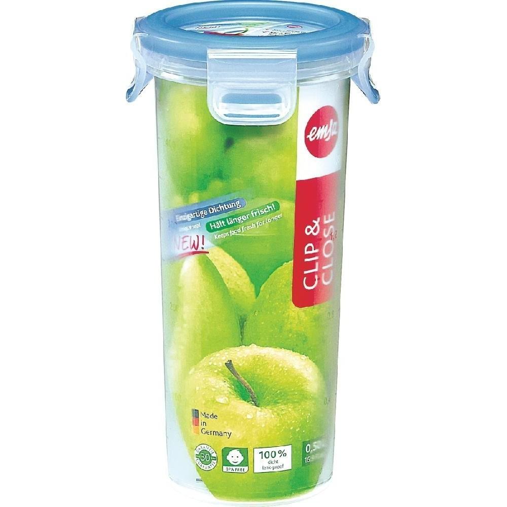 Контейнер CLIP &amp; CLOSE  высокий круглый 0 35 лКонтейнер пищевой отлично подойдет для того, чтобы взять свой любимый напток с собой в дорогу. Герметичная крышка на заклепках надежно защитит от протекания. Здоровое питание это просто!<br>