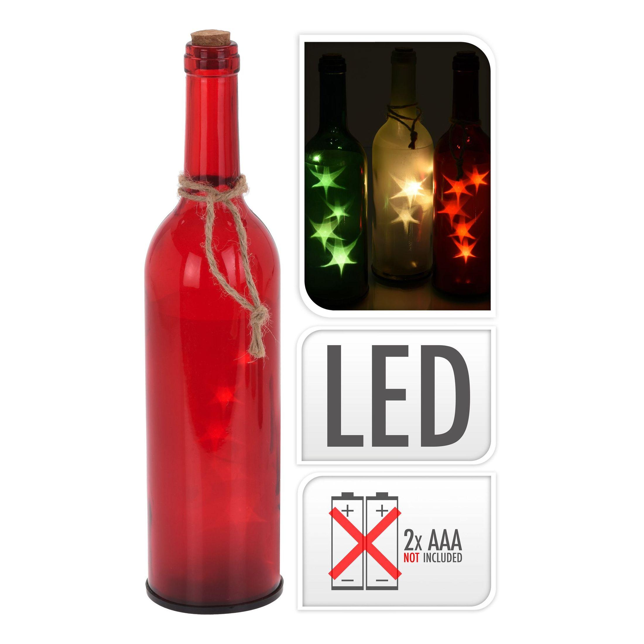 Светильник декорат. Бутылка работает от батареек 2X AAA<br>