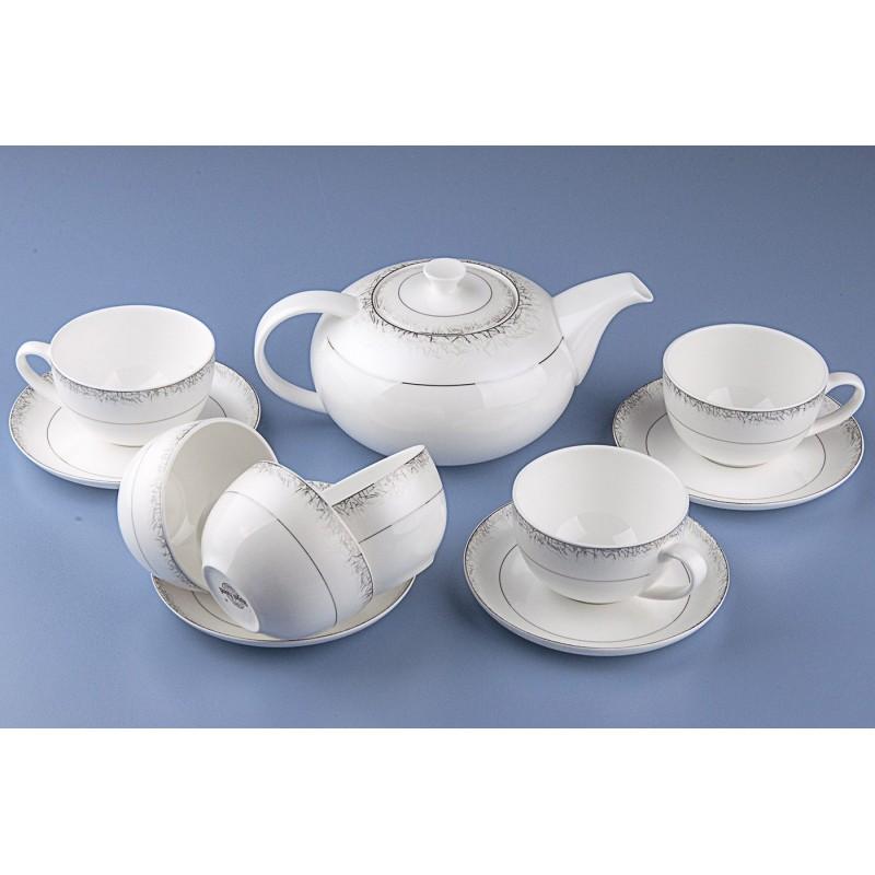 Сервиз чайный Иней арт.110 на 13 предм.Сервиз чайный Иней арт.110 на 13 предм.<br>