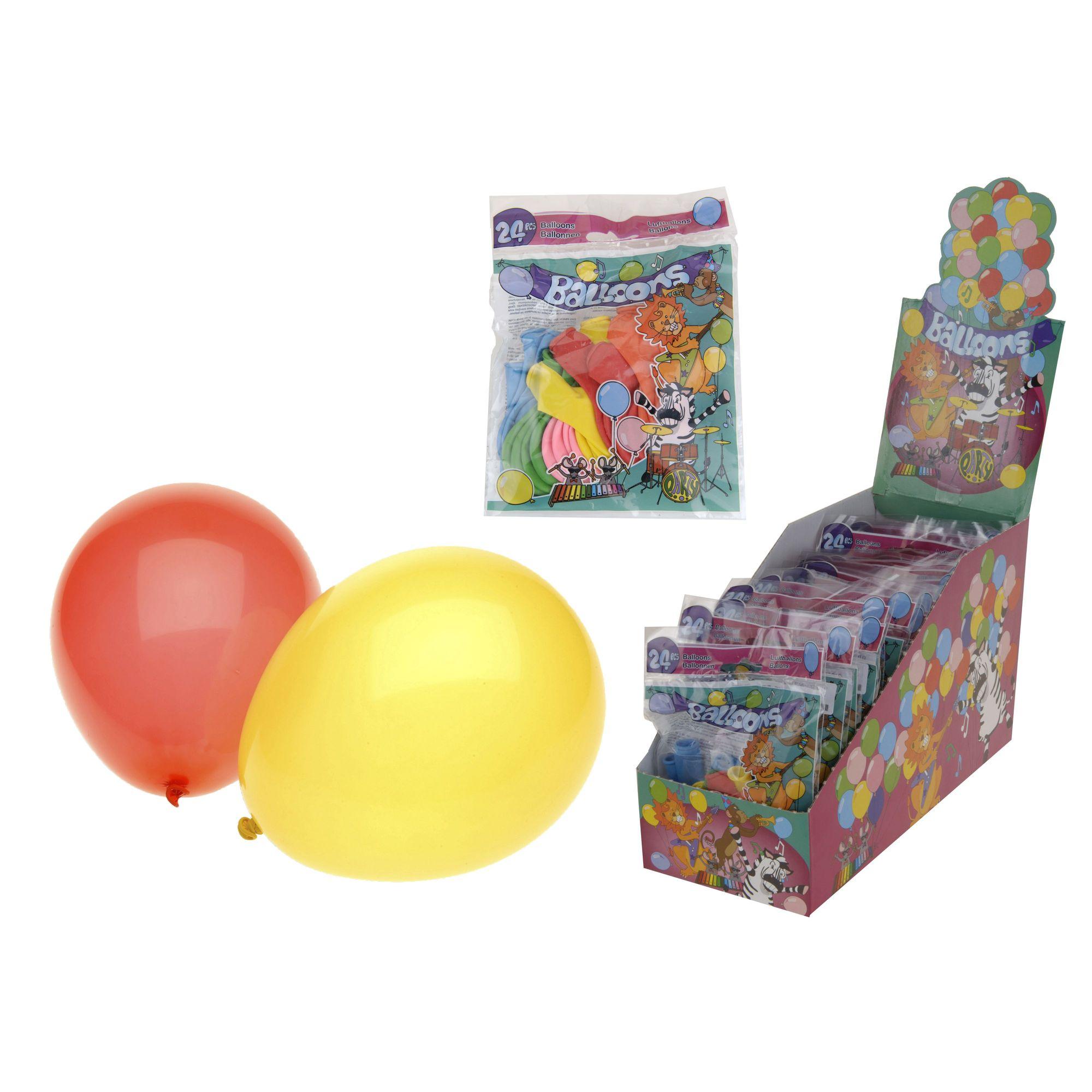 Набор шаров надувных 24 шт.Набор шаров надувных (24шт) от Экселент Хаусвейр сделает праздник для любого взрослого или ребенка радостным и незабываемым. Достаточное количество воздушных шариков позволит украсить небольшое помещение, где планируется проведение торжества. Они среднего размера, их можно компоновать в группы, развешивать на стенах, делать яркие оригинальные композиции. Также шары можно использовать в качестве поощрительных призов в конкурсах, с ними всегда приятно сфотографироваться.Латексные шары в данном наборе являются разноцветными, но без нанесенного рисунка. Несмотря на это, они сделают праздник незабываемым, поднимут настроение даже самому грустному ребенку. Даже один надутый шарик, не говоря о нескольких, непременно создаст ауру веселья.<br>