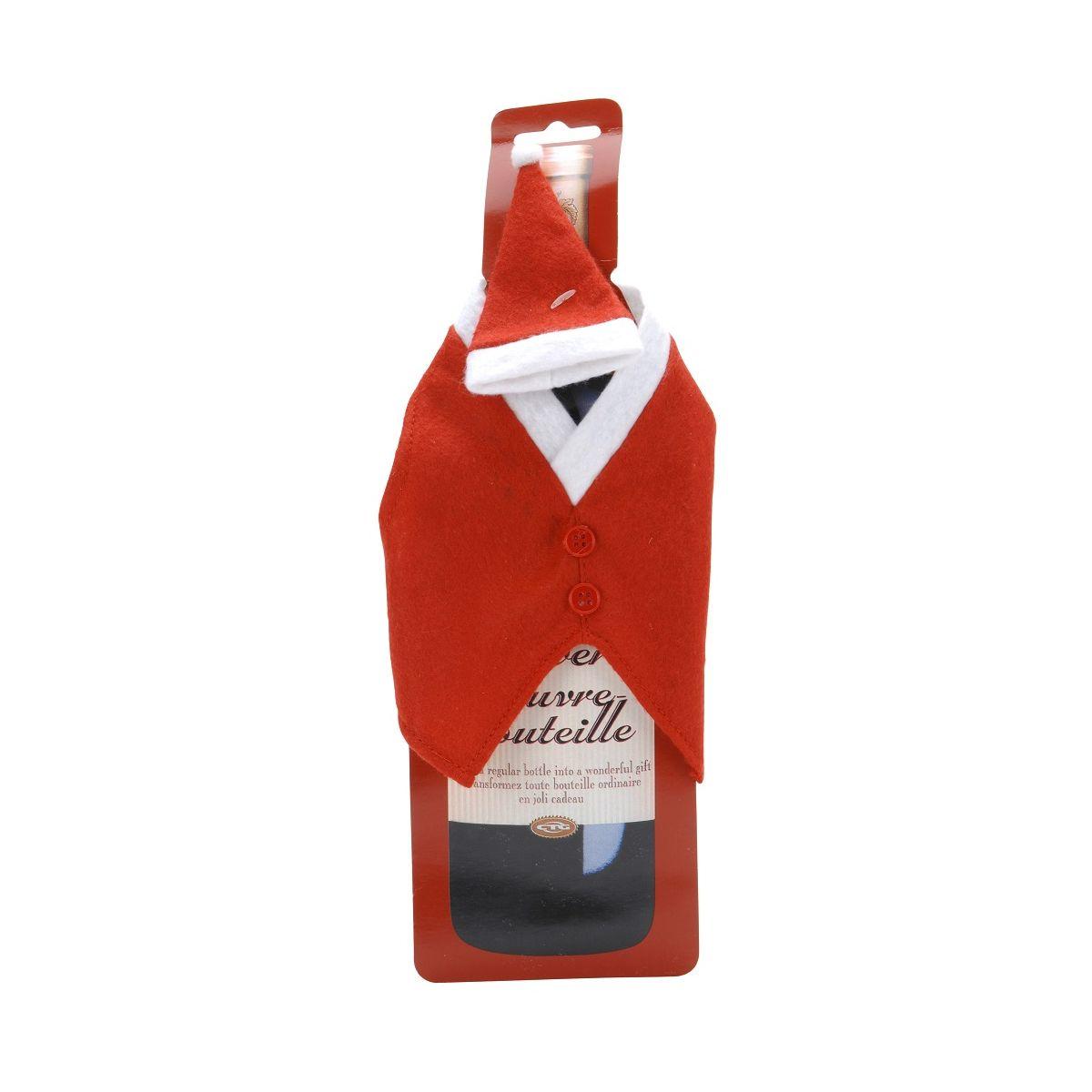 Костюм санты д/винной бутылккикостюм санты для винной бутылкки<br>