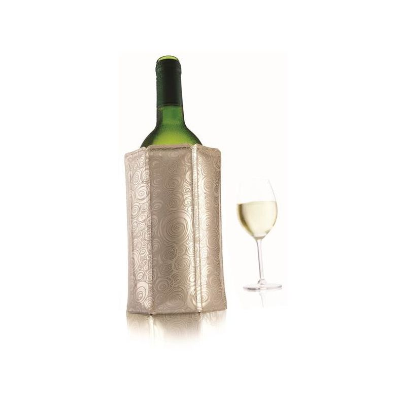 Рубашка охладительная д/игристых вин, платинад/того, чтобы вино раскрыло свои качества полностью, необходимо подавать его при правильной температуре. Охладить напитки помогают охладительные рубашки д/вина и шампанского, которые в течение 5 минут охлаждают бутылки без использования льда. д/подготовки рубашки просто разместите её на некототорое время в морозильной камере, где она займет совсем мало места, а затем оденьте на бутылку. Через несколько минут вино будет готово к сервировке.<br>