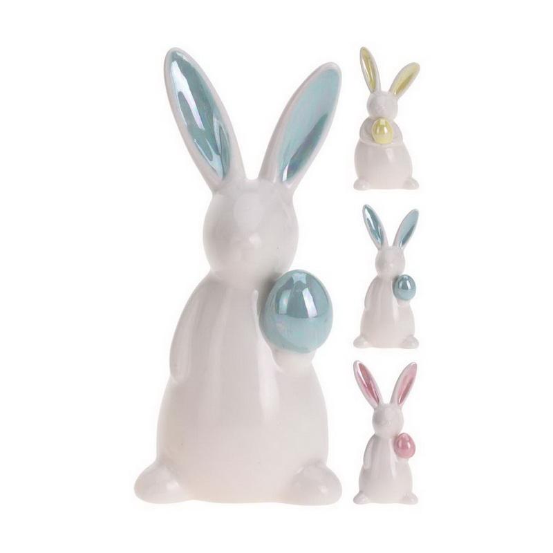 """Статуэтка """"Заяц с яйцом"""" h 12см в ассортименте"""
