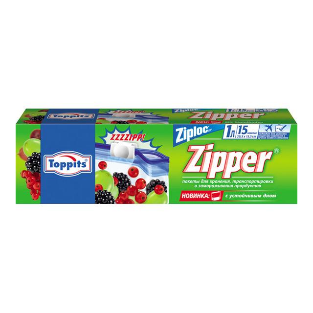 Пакеты с застёжкой для хранения, транспортировки и замораживания, 15шт х 1лПакетики с застежками очень удобны в использовании. Они подойдут как для обычного сухого хранения, так и для заморозки продуктов. Не пропускают запахов.<br>