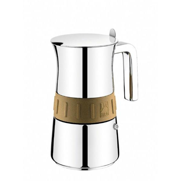 Кофеварка гейзерная на 10 чашек ELEGANCE GOLDИтальянская компанияPintinoxуже больше 80 лет занимается производством различной посуды из нержавеющей стали. Это выгодное сочетание качества продукции с современным дизайном и новейшими технологиями. Гейзерная кофеварка на 10 чашек имеет очень красивую, элегантную форму. Выполненная из высококачественной нержавеющей стали, она имеет идеально ровную поверхность благодаря зеркальной полировке. Стильный элемент в виде золотой полосы делает кофеварку отличным предметом интерьера. Итальянская компанияPintinoxуже больше 80 лет занимается производством различной посуды из нержавеющей стали. Это выгодное сочетание качества продукции с современным дизайном и новейшими технологиями. Гейзерная кофеварка на 10 чашек имеет очень красивую, элегантную форму. Выполненная из высококачественной нержавеющей стали, она имеет идеально ровную поверхность благодаря зеркальной полировке. Стильный элемент в виде золотой полосы делает кофеварку отличным предметом интерьера. Итальянская компанияPintinoxуже больше 80 лет занимается производством различной посуды из нержавеющей стали. Это выгодное сочетание качества продукции с современным дизайном и новейшими технологиями. Гейзерная кофеварка на 10 чашек имеет очень красивую, элегантную форму. Выполненная из высококачественной нержавеющей стали, она имеет идеально ровную поверхность благодаря зеркальной полировке. Стильный элемент в виде золотой полосы делает кофеварку отличным предметом интерьера.<br>