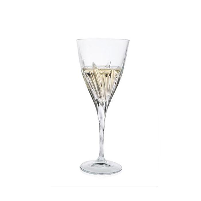 Набор бокалов д/белого вина 260 мл 6 шт FLUENTEНабор бокалов для белого вина Флюент создаст настоящее настроение праздника и дружескую атмосферу во время любого торжества. Набор из шести предметов представляет собой необычное сочетание единого дизайна и разных цветов оформления. Комплект несет также и практичную функцию – ваши гости никогда не перепутают свой бокал с чужим, легко запомнив его цвет. Изделия выполнены из прочного и высококачественного стекла, которое не содержит свинец и другие токсичные вещества. Набор бокалов для белого вина Флюент станет лучшим выбором для использования на домашней вечеринке или для кафе или баров.<br>