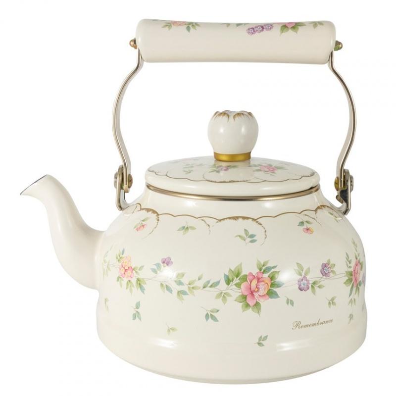 """Чайник эмалированный 2,3 л Ejiry """",Воспоминание"""","""