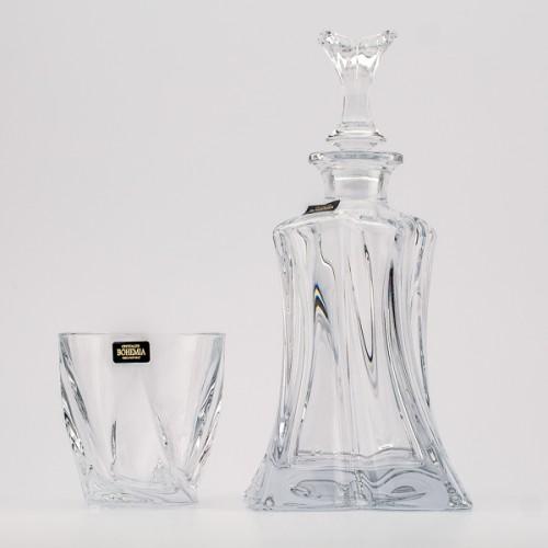 Набор для виски (графин + 2 стакана) ФлоралДобавьте в свой домашний мини бар набор для виски фирмы Crystal Bohemia. Непревзойденное качество чешского стекла, его дизайн подарят вам истинное удовольствие. Набор подойдет как для повседневного использования, так и для украшения вашего праздничного стола.<br>