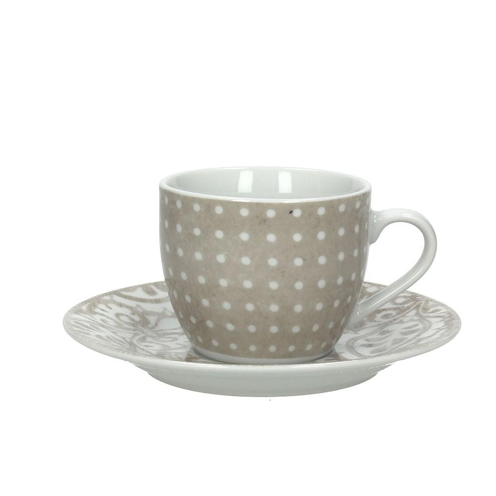 Набор чашек с блюдцами чайные OLIMPIA VINTAGETognana производит красивую и качественную посуду и аксессуары для дома и дачи, создает каждый предмет продуманно и с особой любовью. Данный набор чашек с блюдцами стильный, эргономичный, прекрасно выполняет свою функцию и украшает стол.<br>