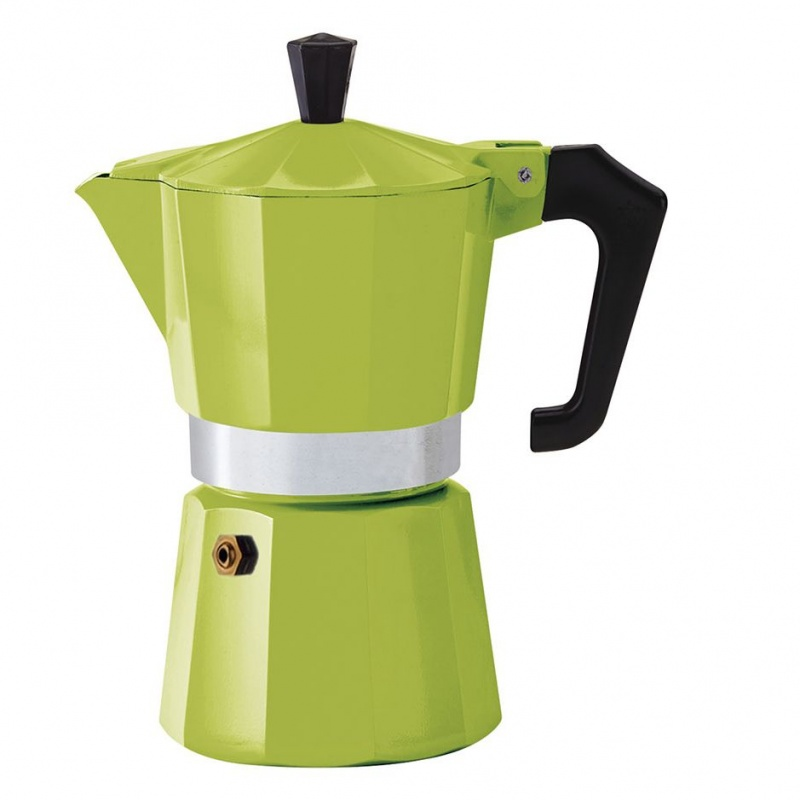Кофеварка гейзерная ITALEXPRESS на 3 чашки зеленаяКофеварка гейзерная СтилЭкспресс позволит вам быстро и легко сварить крепкий и бодрящий кофе для всей компании. Большой объем резервуара делает такую кофеварку отличным выбором для офиса и для дома. Прочный металлический корпус и надежная конструкция обеспечивают долговечность и практичность эксплуатации и ухода. Гейзерная кофеварка с успехом заменит громоздкие кофемашины и сварит ароматный и насыщенный напиток, который зарядит вас бодростью и энергией для продуктивного дня. Кофеварка гейзерная СтилЭкспресс изготовлена из пищевого алюминия, который отлично сохраняет истинный вкус кофе.<br>