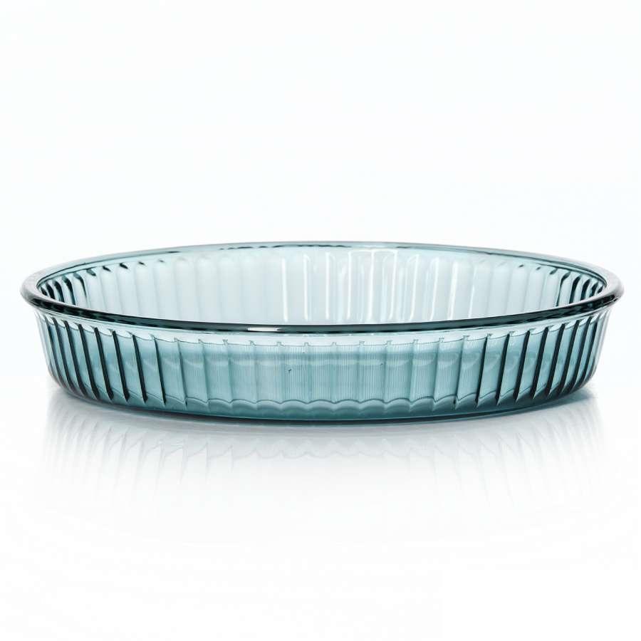 Форма для выпечкиПосуда для СВЧ круглая d=320 мм цветное стекло<br>