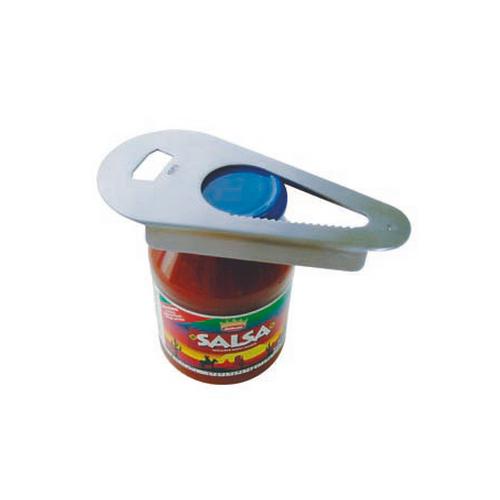 Открывалка для бутылок и банок металлическийОткрывалка для бутылок и банок от немецкого бренда GEFU - универсальный помощник для открытия банок и бутылок разной величины. Прибор пригоден для вскрытия закруглённых банок, диаметр которых не больше 63 мм. Эргономичная ручка удобно ложится в руке, не скользит и не выскальзывает.<br>