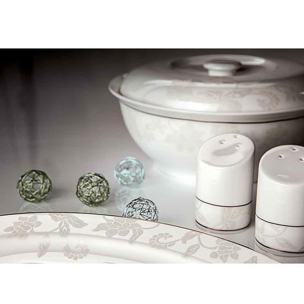 Сервиз столовый «Белый лотос», 27 предметов