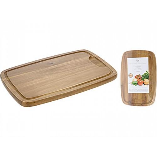 Доска разделочнаяДеревянная разделочная доска изготовлена из экологичного материала. Вы можете резать абсолютно любые продукты не нанося вред своему здоровью. Она легко моется и благодаря качеству материала она надолго останется в вашей кухонной коллекции.<br>
