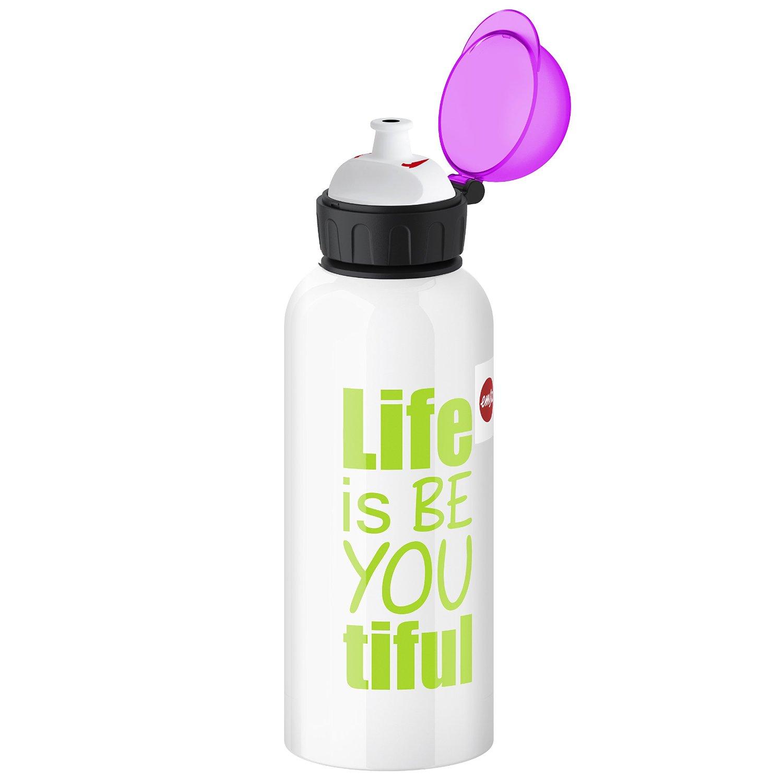 Фляжка для напитков Life TEENSEmsa производит красивую и качественную посуду и аксессуары для дома и дачи, создает каждый предмет продуманно и с особой любовью. Данная фляга стильная, эргономичная, прекрасно выполняет свою функцию.<br>