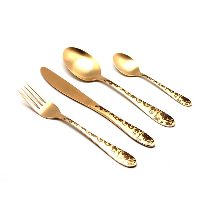 Набор столовых приборов 24 предмета Herdmar Atlanta Old Gold #3