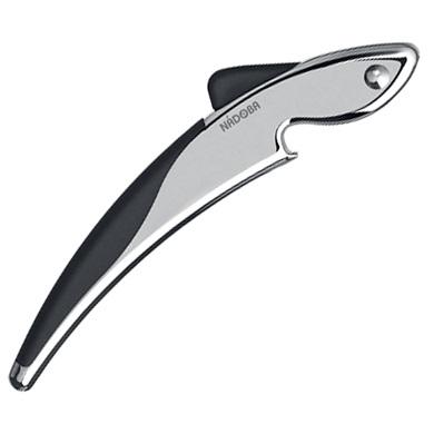 Открывалка для бутылок хром Nadoba, серия SIRENAХромированный цинковый сплав. Высококачественная нержавеющая сталь. TPR-покрытие на рукоятках не позволяет выскальзывать инструментам.<br>