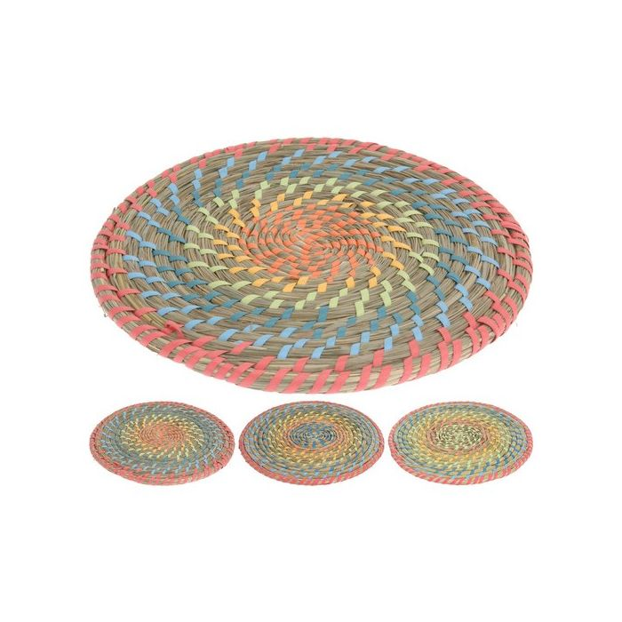 Салфетка подстановочная в ассортиментеСалфетка подстановочная – очень удобный и полезный кухонный аксессуар. С ее помощью ограничивается контакт горячей посуды с поверхностью стола, что предотвращает появление темных пятен, истирания или царапин. Такое изделие станет украшением стола и подчеркнет праздничную сервировку. Салфетка выполнена в форме круга и имеет несколько цветовых решений в пастельных неярких оттенках. Нетканный материал салфетки обладает высокой прочностью, долгим сроком эксплуатации, а также имеет водоотталкивающие свойства. Изделие легко чистится после применения.<br>
