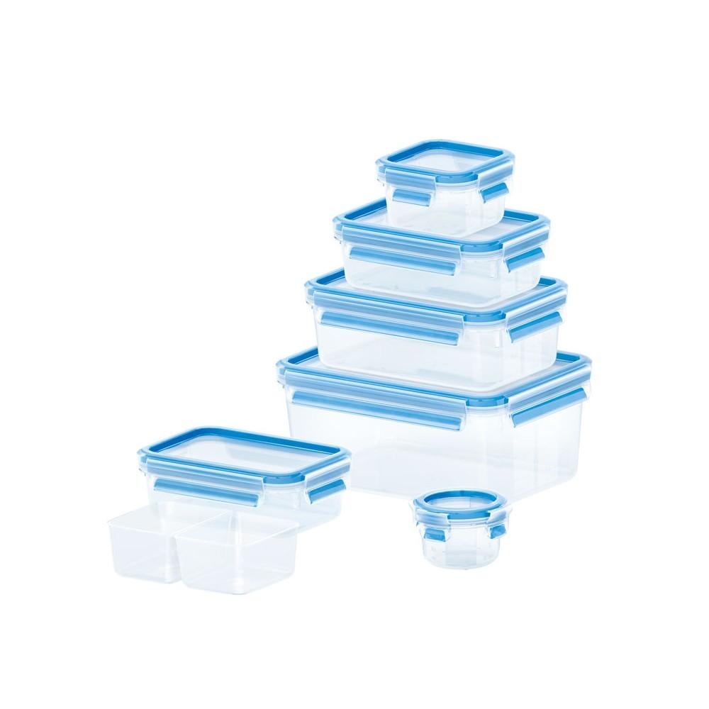 Набор контейнеров CLIP &amp; CLOSE 7 шт (0,15л/0,25л/2*0,55/0,55л с вложением/1л/2,3л)Набор пищевых контейнеров разного объема отлично подойдет для того, чтобы взять вашу любимую еду на природу или обед на работу. Контейнеры подходят для хранения продуктов в холодильнике, а также для их заморозки. Герметичная крышка на заклепках надежно защитит ваши продукты. Здоровое питание это просто!<br>