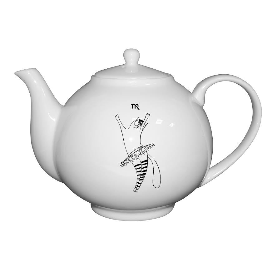 Чайник 1000 мл. Кот-деваОригинальный чайник Кот-дева - современная модель, которая удачно сочетает утонченный дизайн и простоту использования. Изделие станет незаменимым атрибутом сервировки. Модель можно использовать в качестве подарка. Чайник порадует приверженцев классического стиля и плавных линий. Модель может использоваться для заварки различных сортов чая. Чайник Кот-дева украшен интересным рисунком, который порадует людей, рожденных под этим знаком зодиака. Модель, выполненная из костяного фарфора, отличается надежностью и прослужит владельцу не один год.<br>